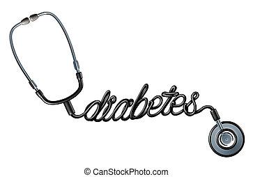 symbole, diagnostic, diabète