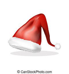symbole, elfe, isolé, illustration, vecteur, fond, blanc, design., chapeau, noël, icône
