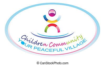 symbole, enfants, communauté
