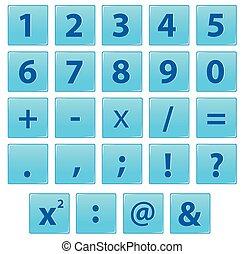 symbole, ensemble, nombre, math