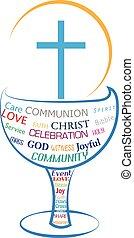 symbole, eucharistie, communion, saint