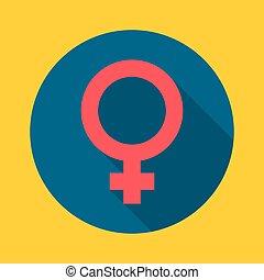 symbole., femme
