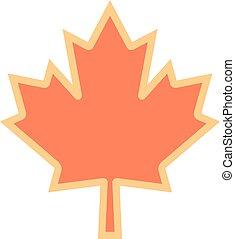 symbole, feuille, érable, canadien