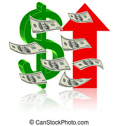 symbole, finance, reussite
