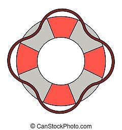 symbole, flotteur, sauveteur