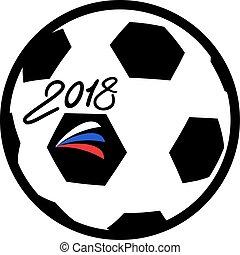symbole, football, 2018, balle