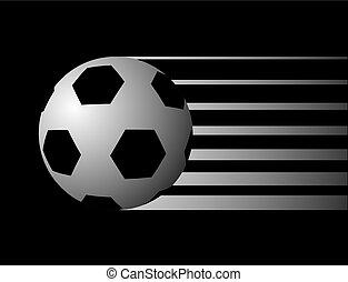 symbole, football, boule noire