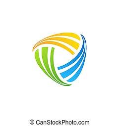 symbole, géométrie, résumé, connexion, icône, logo, vecteur, conception