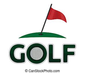 symbole, golf