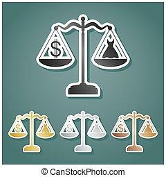 symbole, gradient, dollar, ensemble, arrière-plan.,...