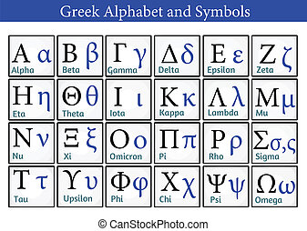 symbole, griechisches alphabet