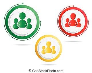 symbole, groupes, gens