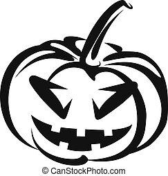 symbole, halloween, pumkin.