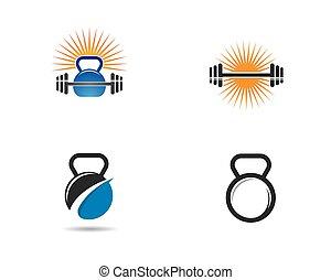 symbole, illustration, fitness