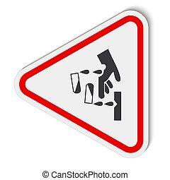 symbole, illustration, isoler, corrosif, prendre garde,...