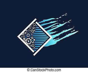 symbole, industriel, énergie, résumé