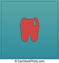 symbole, informatique, dent