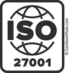symbole, iso, certifié, 27001