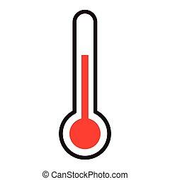 symbole, isolé, thermomètre