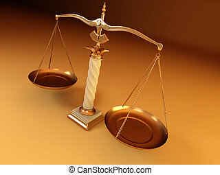 symbole, justice., échelle