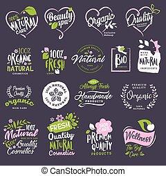 symbole, komplet, majchry, kosmetyki, piękno