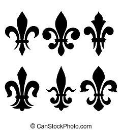 symbole, lis), ritterwappen, de, (fleur