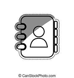 symbole, livre, adress