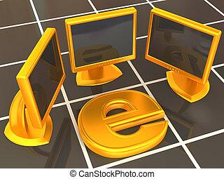 symbole, local, réseau, internet