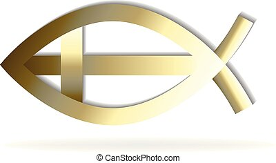 symbole, logo, fish, croix, or