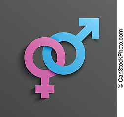 symbole, mâle, femme