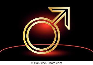 symbole mâle