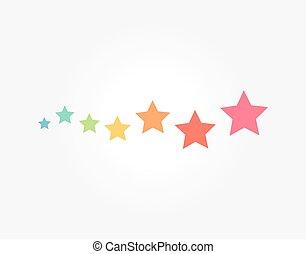 symbole, magie, coloré, étoiles