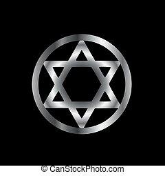 symbole, magique, hexagram, cachet, solomon-, ou