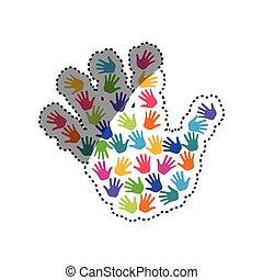 symbole, main humaine