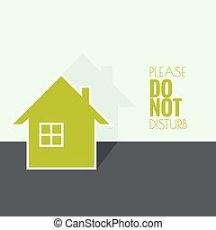 symbole, maison, habitation