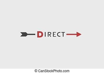 symbole, message, direct, plat