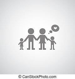 symbole, mon, famille