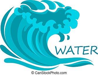 symbole, mousse, eclabousse, vague océan