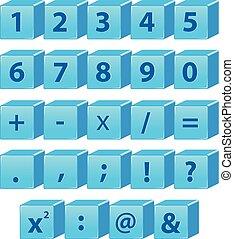 symbole, nombre, math