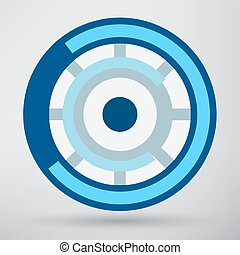 symbole, oeil, cyber, icône