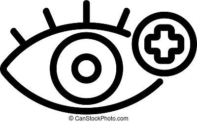 symbole, oeil, icône, vecteur, isolé, treatment.,...