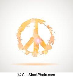 symbole., paix, hippie