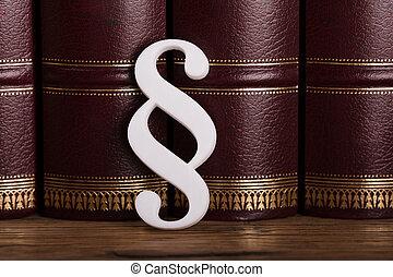 symbole, paragraphe, livres, droit & loi, penchant