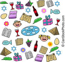 symbole, passah, feiertag, satz