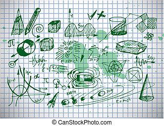 symbole, physik, mathe