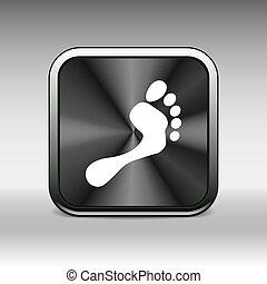 symbole, pied, vecteur, humain, empreinte, logo, icône