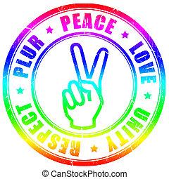 symbole, plur, hippy