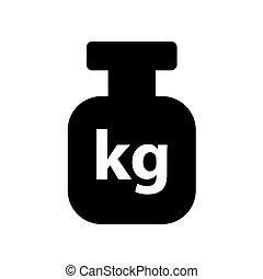 symbole, poids