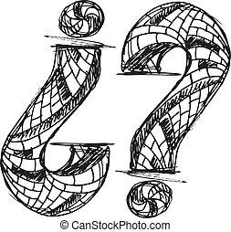 symbole, point interrogation