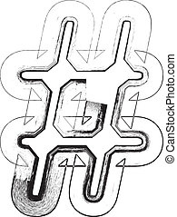 symbole, police, grunge